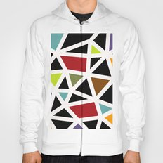 White lines & colors pattern #1 Hoody