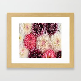 flower, happy mothers day Framed Art Print