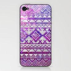 Aztec Tribal Diamond Pattern Pink Nebula Galaxy Space iPhone & iPod Skin