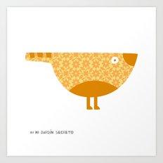 KOKORO (orange) Art Print