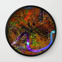new orleans Wall Clocks featuring new orleans by donphil
