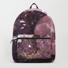 Amethyst and Pink Quartz Gemstone Backpack