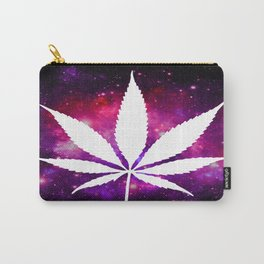 Weed : High Times Fuchsia Pink Purple Galaxy Carry-All Pouch