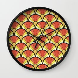 Radiant Sunshine Art Deco Pattern Wall Clock
