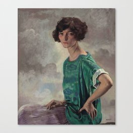 Portrait of Gertrude Sanford by William Orpen, 1922 Canvas Print