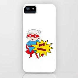 Super Grandma 1 iPhone Case