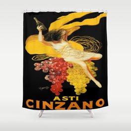 Vintage poster - Asti Cinzano Shower Curtain