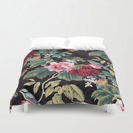 Noir Flower Pattern Duvet Cover