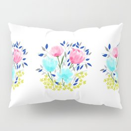 Spring Roses Bouquet Pillow Sham