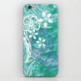 Hawaiian - Samoan - Polynesian Ocean Spray Honu Tribal iPhone Skin