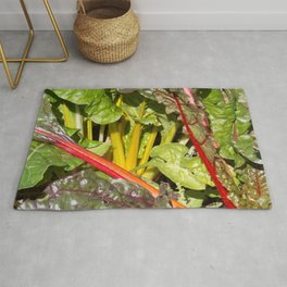 Rhubarb stems and leaves Rug
