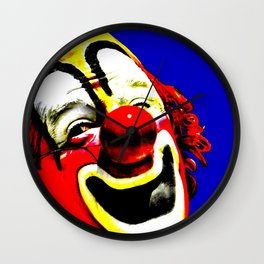 Ringling Bros. Barnum and Bailey Vintage Circus Clown Print Wall Clock
