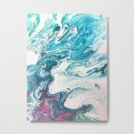 Ocean Foam painting  Metal Print