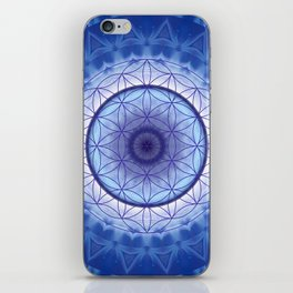 Flower of Life blue iPhone Skin