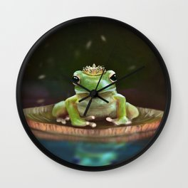 Frog Princess Wall Clock