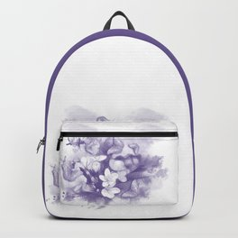 Ultraviolet tropical flowers and butterflies Backpack