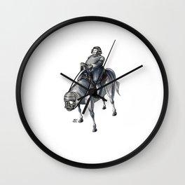 Numero 4 -Cosi che cavalcano Cose - Things that ride Things- Wall Clock
