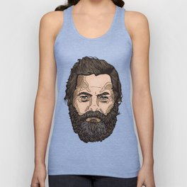 The Face Of Nick Offerman Unisex Tank Top