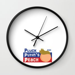Pluck Putin's Peach Wall Clock