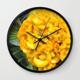 Celosia Tropical Flower Wall Clock