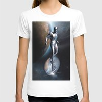 silver T-shirts featuring SILVER by Scofield Designs