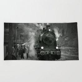 Steam Engine Beach Towel