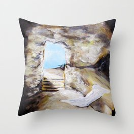 Empty Burial Tomb Throw Pillow