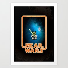 Bear Wars - the Wise One Art Print