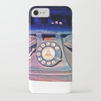 telephone iPhone & iPod Cases featuring Telephone by Parastar Arts