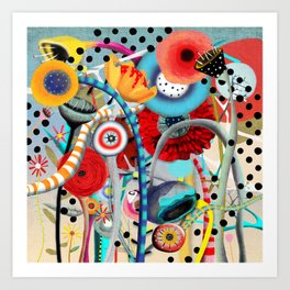Colorful Happy Days  Art Print