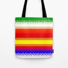 Rainbow Colored Geometric Pattern Tote Bag