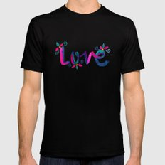 Love Black X-LARGE Mens Fitted Tee