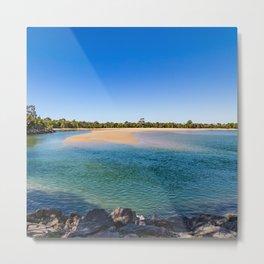 Noosa River Sandy Inlet Metal Print