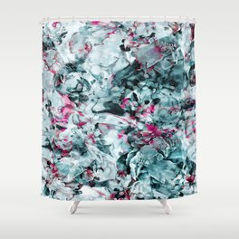FLORAL WAVES Shower Curtain