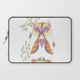 Whimsical Mama Owl and Baby Owls Laptop Sleeve