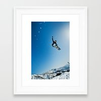 snowboard Framed Art Prints featuring SnowBoard ! by MarcioAbe Photography