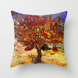 Vincent Van Gogh Mulberry Tree Throw Pillow