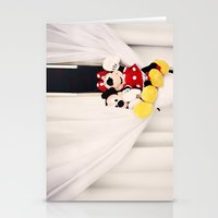 minnie mouse Stationery Cards featuring Mickey and Minnie Mouse by castle on a cloud