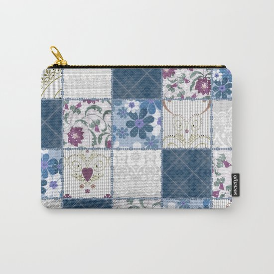 Patchwork  floral lace pattern background Carry-All Pouch