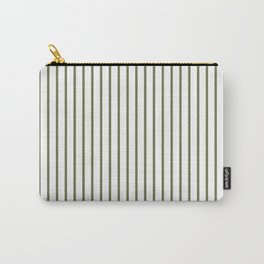 Wheelbarrow Grey Pinstripe on White Carry-All Pouch