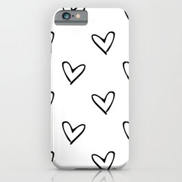 Black hearts iPhone Case