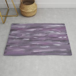 Touching Purple Black White Watercolor Abstract #1 #painting #decor #art #society6 Rug