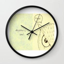 Dyslexic Owl Wall Clock