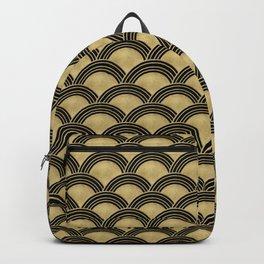Japanese Wave Gold Glam #2 #decor #art #society6 Backpack