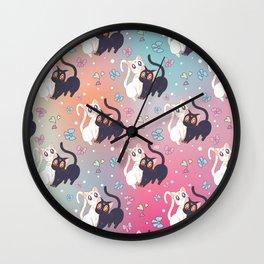 Luna  e Artemis Pattern New Version Wall Clock