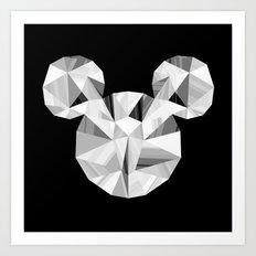 Silver Pop Crystal Art Print