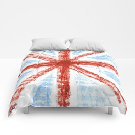 Flag of UK 11- London,united kingdom,england,english,british,great britain,Glasgow,scotland,wales Comforters