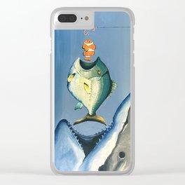 Fish Bait Clear iPhone Case