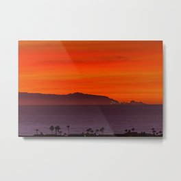 North End Sunset Metal Print