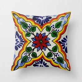 talaveramexican tile Throw Pillow